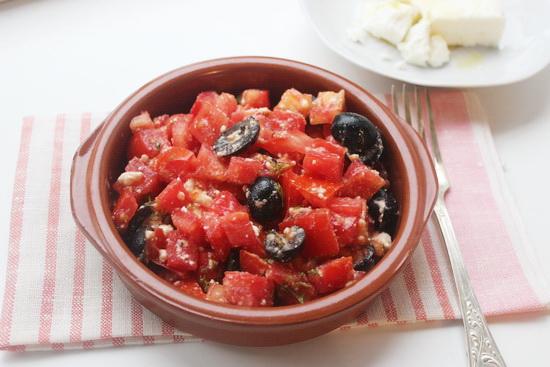 хорватский салат с помидорами