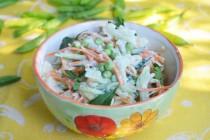 Салат с цветной капустой и морковью