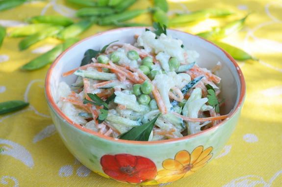 салат из морковки и цветной капусты