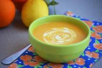 Пряный суп-пюре из тыквы с имбирем