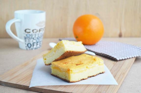 творожная запеканка с апельсиновой начинкой