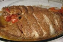 Морской окунь в орехово-горчичном соусе