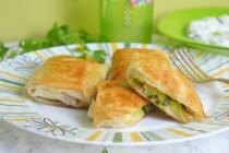 Мини-пирожки с кабачками в тесте фило