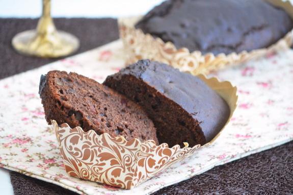 шоколадный пряный кекс с клюквой