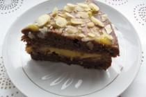 Шоколадно-банановый торт с лимонным курдом