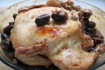 Курица с хариссой и финиками