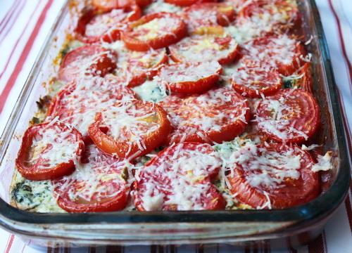 запеканка из баклажанов с помидорами и творогом