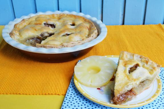 пирог с ревенем и ананасом