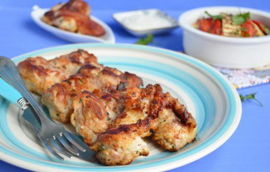 Куриные бедрышки с мятой и йогуртом