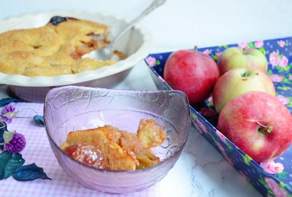 сливовый пандауди с яблоками