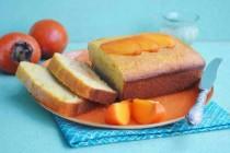 Кекс с хурмой, корицей и кукурузной мукой
