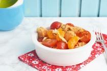 Салат курицей и мандаринами с азиатской заправкой