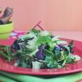 салат с помело и песто из кешью и арахиса