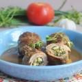 Попьет из телятины со шпинатной начинкой