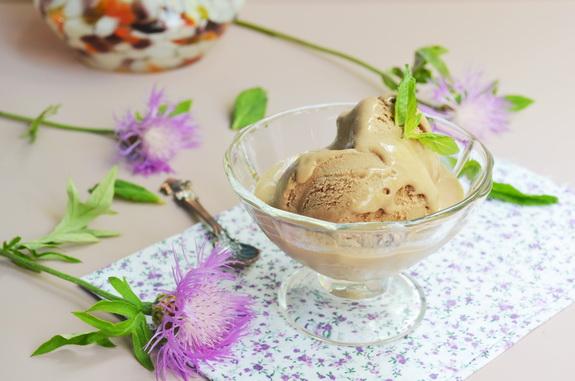 шоколадно-мятное мороженное
