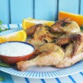 цыпленок с апельсинами и мятой