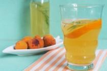 Компот-щербет из абрикосов и яблок