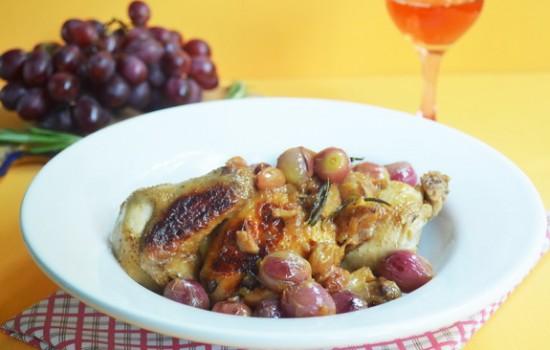 Цыпленок с виноградом и изюмом
