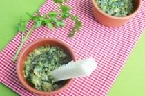 Дип (жульен) из шпината и артишоков
