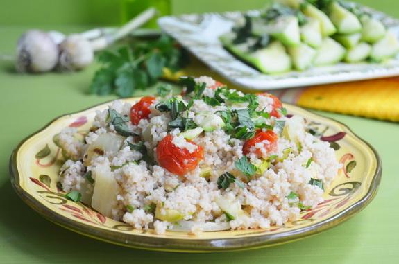 кус-кус с овощами на гриле