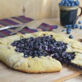 пирог с голубикой и творогом