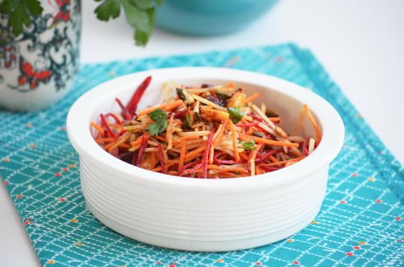 салат из свеклы и кольраби