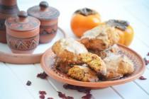 Печенье с хурмой и сушеной клюквой