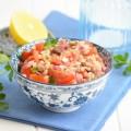 салат с фарро и помидорами