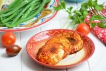 Грибные стейки в соусе барбекью с чесноком