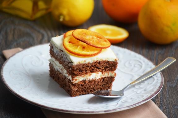 зимний торт с шоколадом и апельсином