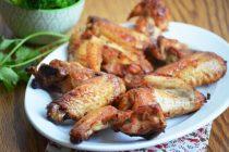 Куриные крылышки с имбирем в медовой глазури