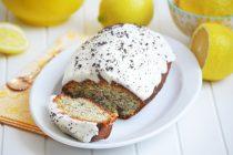 Лимонно-маковый кекс с пропиткой и глазурью из сливочного сыра