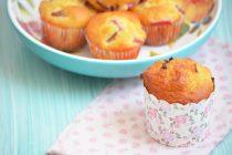 Творожные кексы с ревенем