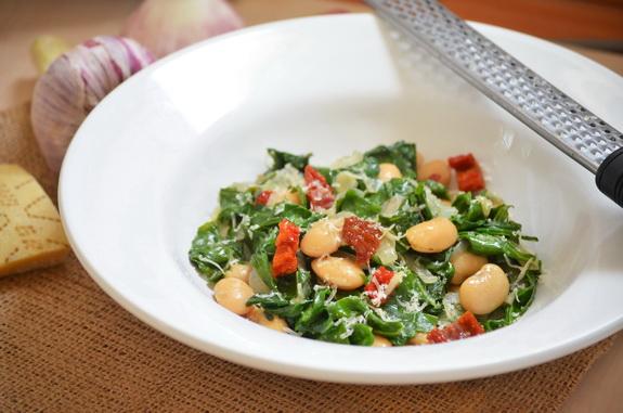 фасоль с мангольдом - greens and beans