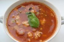 Чили суп с баклажаном