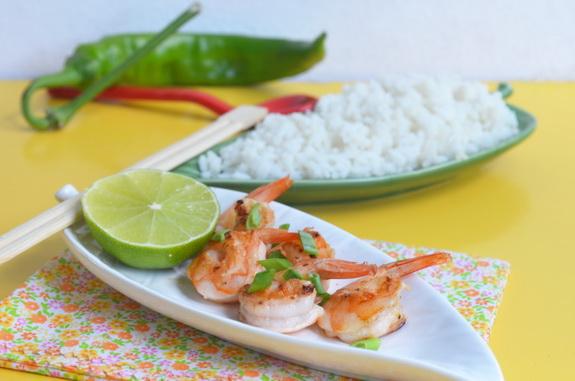 креветки и кокосовый рис