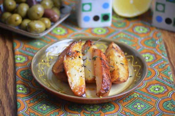 картофель с тимьяном и лимонной цедрой