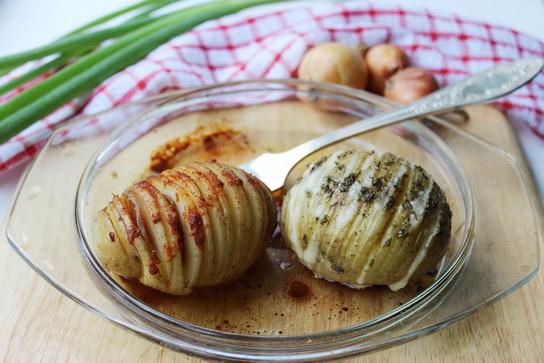 запеченная картошка-веер