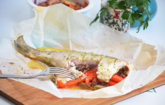 Рыба с вялеными помидорами рецепт
