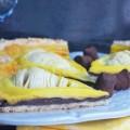 тарт с грушами и шоколадом
