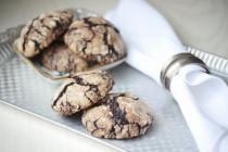 Шоколадное печенье с крекелюром