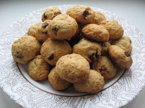 Печенье с клюквой и овсяными хлопьями