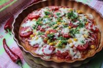 Пицца Мексикана на кефирном тесте