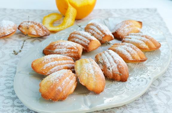 Мадлен с тимьяном и апельсиновой цедрой