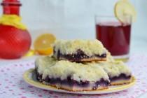 Чернично-лимонный пирог со штрейзелем