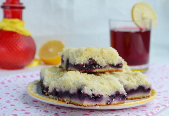 пирог с черникой и лимоном