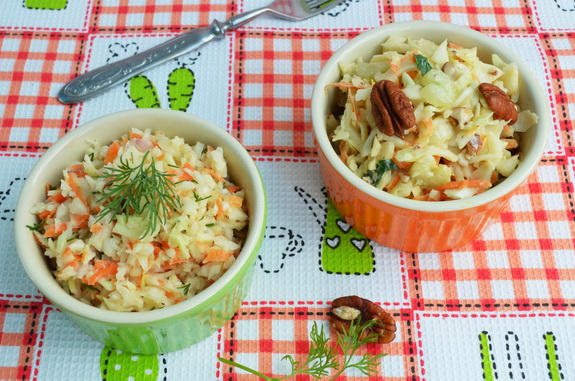 два рецепта американского капустного салата коул слоу