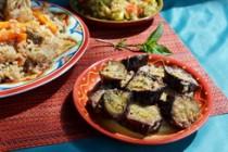 Баклажаны по-магрибски в жгучем медовом соусе