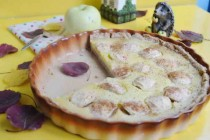 Яблочный тарт на имбирном тесте