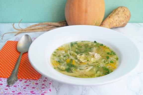 суп с петрушкой, пастернаком и тыквой